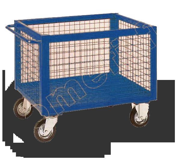conteneur grillagé avec roues